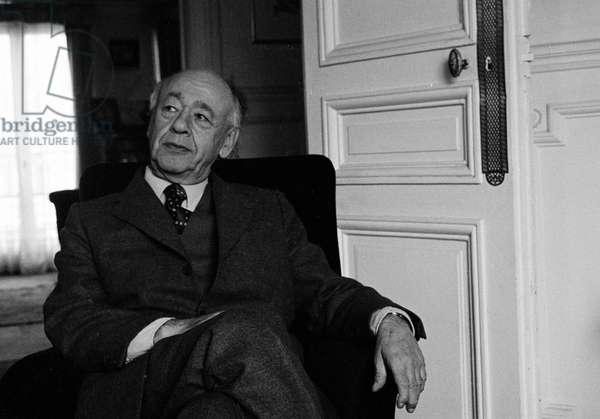 Portrait de l'ecrivain Eugene Ionesco (1909-1994).