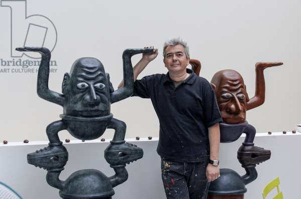 Portrait of Herve Di Rosa (artist) at his studio 16/12/2008