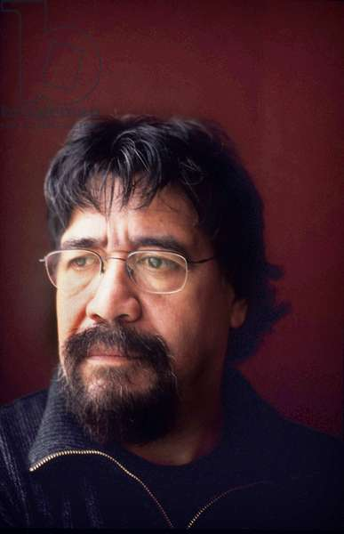 Portrait of Luis Sepulveda, Paris 2003.