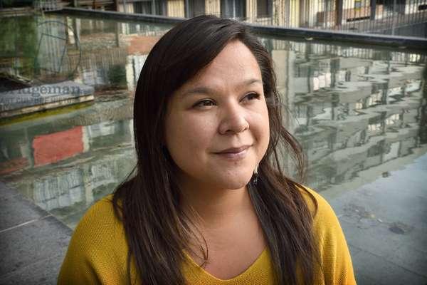 Portrait of Naomi Fontaine Canadian writer - 2018