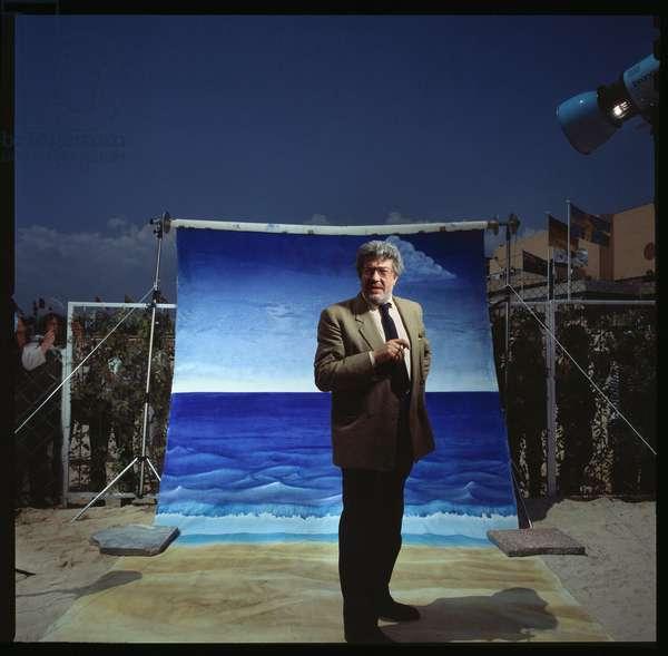 Portrait de Ettore Scola (1931-2016) realisateur italien 1987