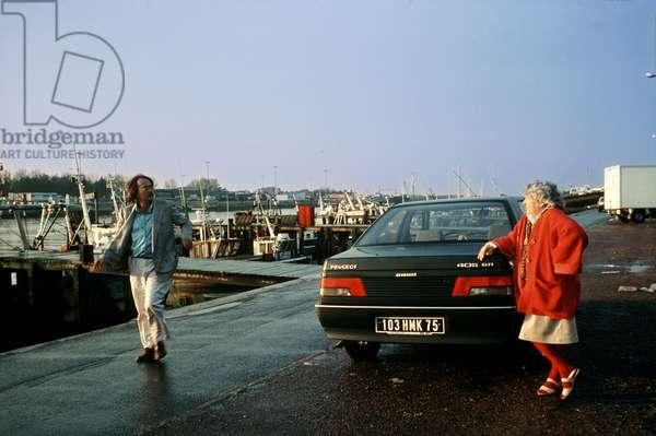 Portrait of Marguerite Duras (pen name of Marguerite Donnadieu) and Yann Andrea (born Yann Lemee) 1990