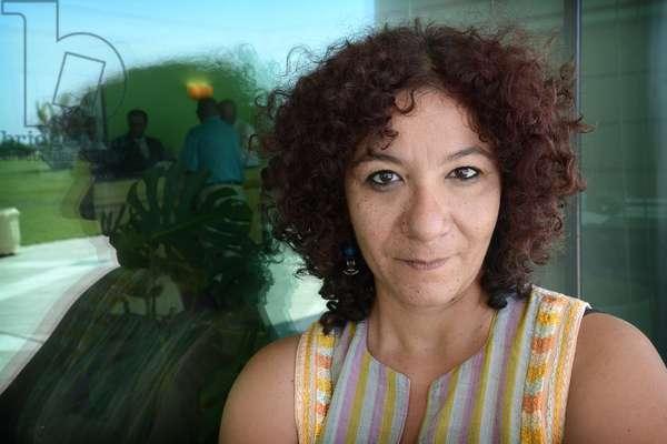 Portrait de l'ecrivain Mona Prince Photographie 2014