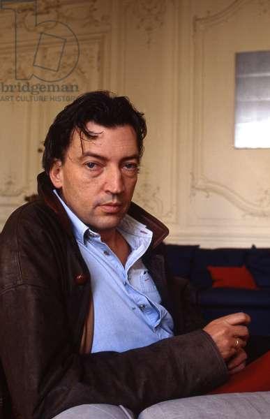 Portrait de l'artiste francais Jean-Marc (jean Marc) Bustamante en 1995 Photographie