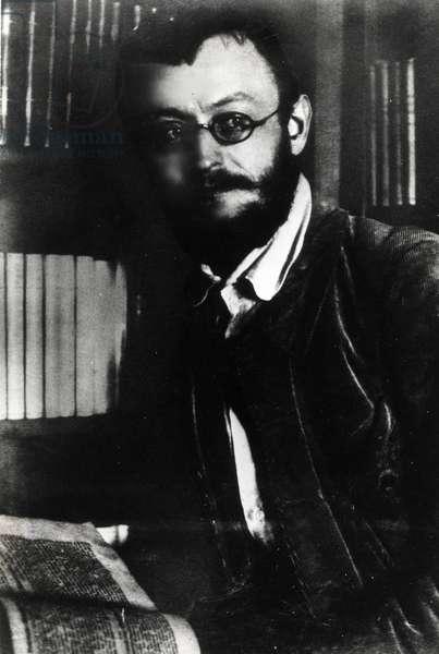 Portrait de Hermann Hesse (1877-1962), ecrivain et essayiste allemand, photographie