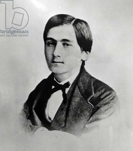 Portrait de Henri Bergson (1859-1941), philosophe francais, a Clermont Ferrand, photographie 1886
