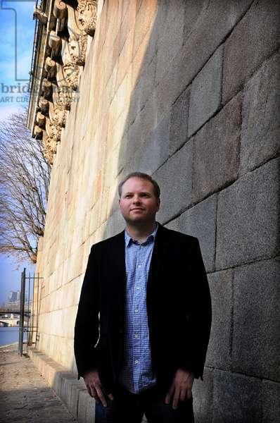 Portrait of Kristof Magnusson writer of German and Icelandic origin. November 2011.