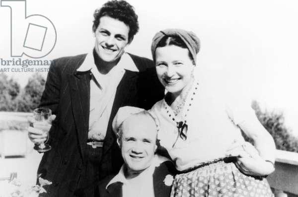 Simone De BEAUVOIR et Jean GENET - Date : 19490801