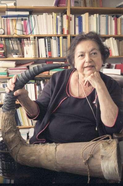 Portrait of Francoise Heritier (anthropologist) 15/05/2008