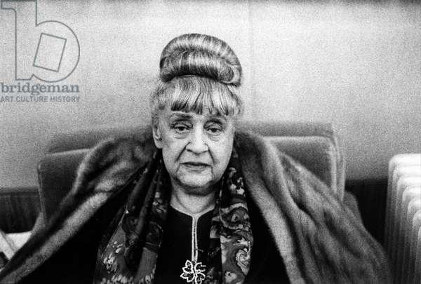 Portrait de la poetesse Katia Granoff (1896-1989) en 1964.