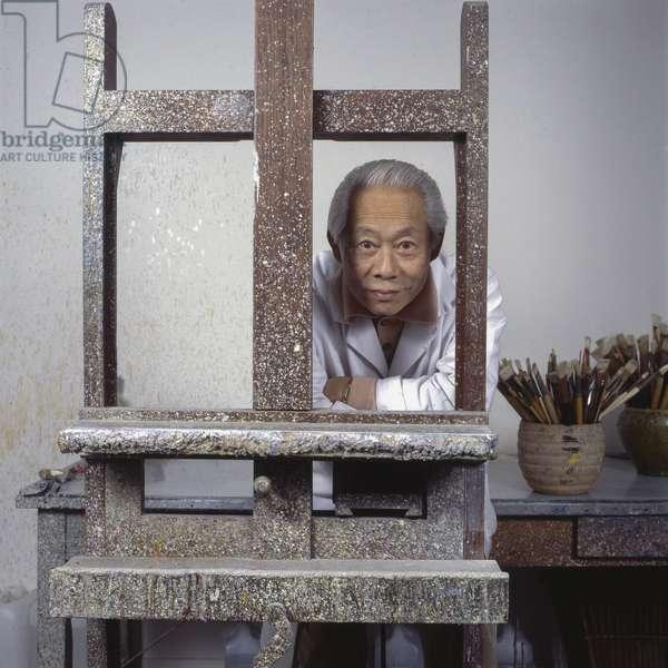 Portrait de Zao Wou-Ki (Wou ki) en 1993 Photographie