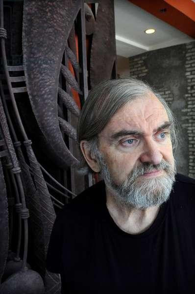 Portrait of Michel Le bris cribe francais. January 2012.