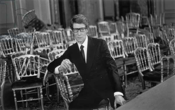 Portrait of Yves Saint Laurent (born Yves Mathieu-Saint-Laurent (Mathieu Saint Laurent)