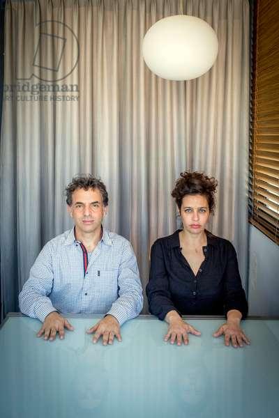 Portrait of Etgar Keret, writer and Shira Geffen, director 03/02/2016