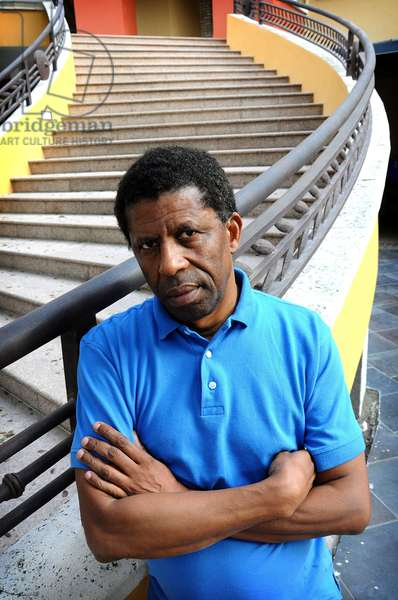 Portrait of the Haitian poet and writer Dany Laferriere. January 2012.