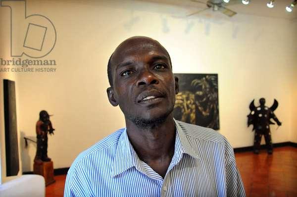 Portrait of Paul Harry Laurent Haitian poete. January 2012.