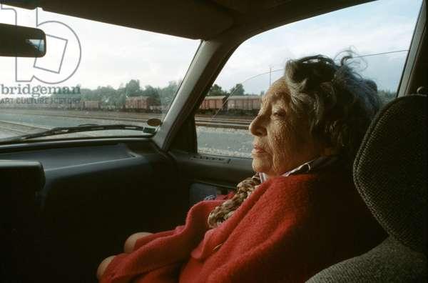 Portrait of Marguerite Duras (pen name of Marguerite Donnadieu) 1990