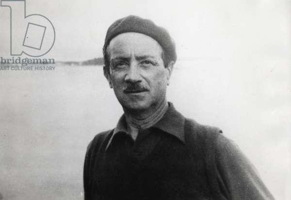 Portrait de Saint John Perse (Alexis Leger) (1887-1975), poete, ecrivain et diplomate francais, photographie