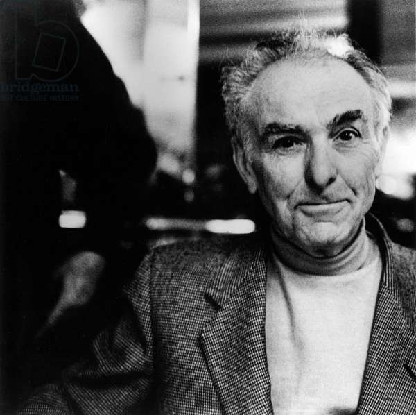 Portrait du photographe Robert Doisneau (1912-1994) a Paris en 1988.