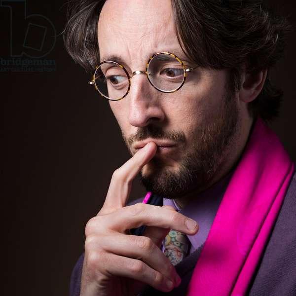 Portrait of Nicolas d'Estienne d'Orves (journalist) 18/03/2018