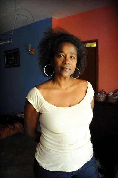 Portrait of Kettly Mars, Haitian writer. January 2012.