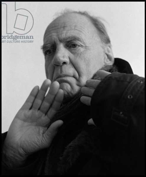 Portrait of Bruno Ganz, 25th January 2011 (b/w photo)