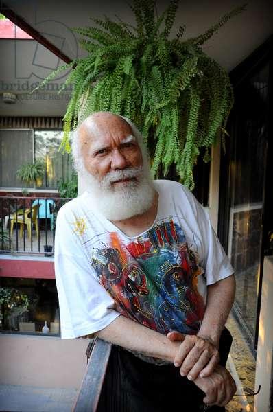 Portrait of the artist writer poet playwright comedian painter Haitian Franketienne. January 2012.