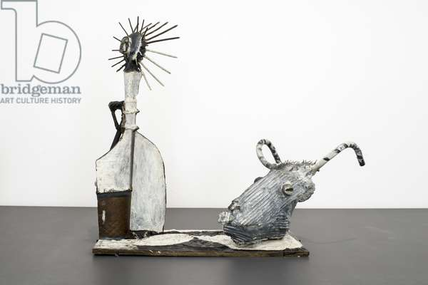 Pablo PICASSO (1881-1973), Goat crane and bottle, Painted bronze, 1951-53, Vallauris, Musee National Picasso, Paris