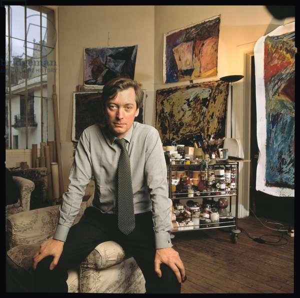 Portrait de Philippe Royer artiste peintre francais vers 1985