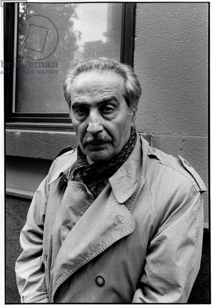 Portrait of Mohammed Ali Sepanlou, New York, 1999.