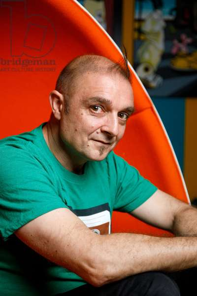 Portrait of Olivier Rizzo (aka Speedy Graphito) at his studio 13/07/2017