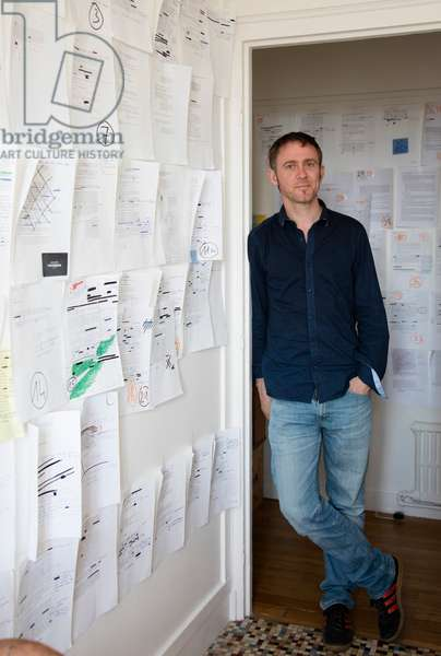 Portrait of Arno Bertina at his place 24/05/2017
