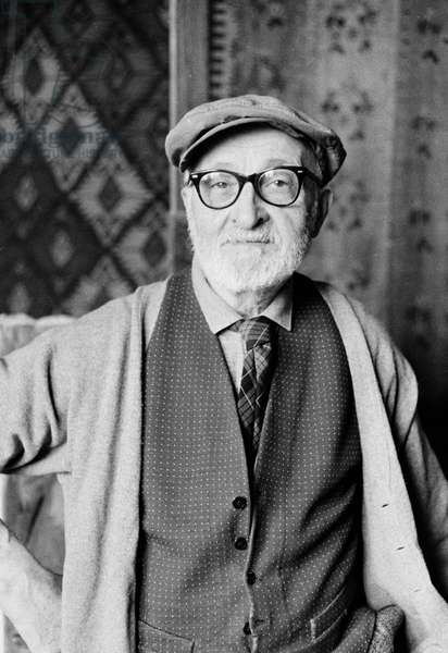 Portrait of the painter Charles Camoin (1879-1965) in 1964 (b/wphoto)