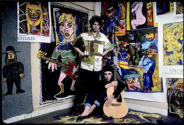 Portrait of Robert Combas (artist) 1984