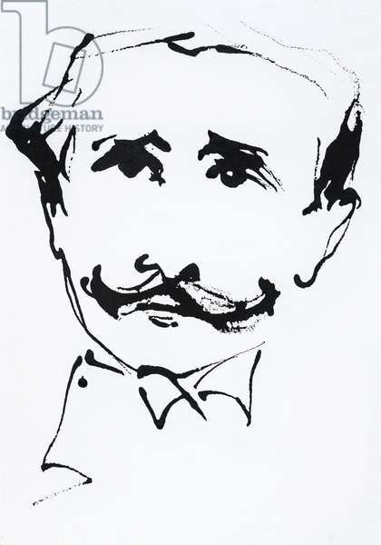 Portrait of Edmond Rostand (1868-1918), French poet and dramatist - 2017 -