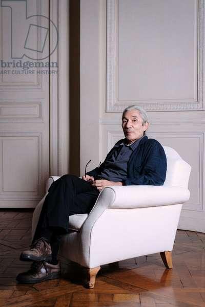 Portrait of Boualem Sansal at his publisher Gallimard site 04/09/2018