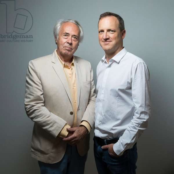 Portrait of Jean-Edouard (Jean Edouard) Gresy (right) and Alain Caille (left) 05/07/2018