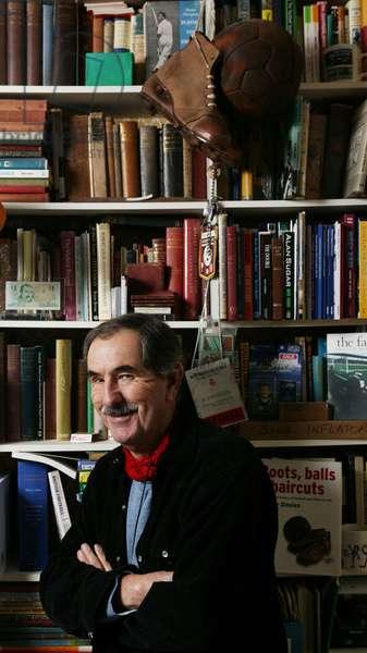 Portrait of British writer Hunter Davies Photography 2003.