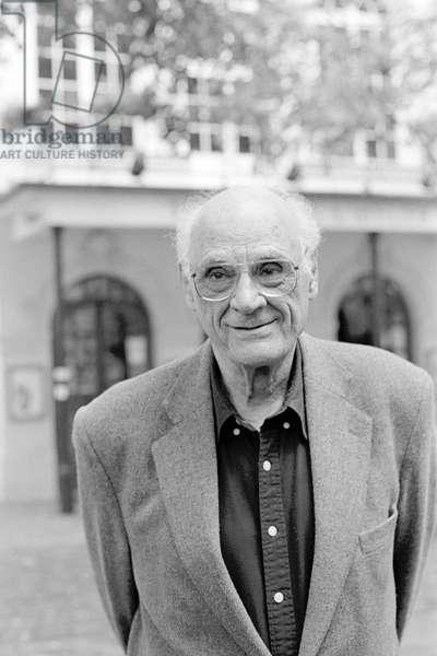"Portrait of Arthur (Asher) Miller (playwright) at Theatre de l'Atelier site (""The Desarroi of M. Peters"") - October 2002"
