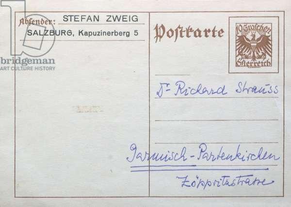 Stefan Zweig (postal card, postcard) 2006