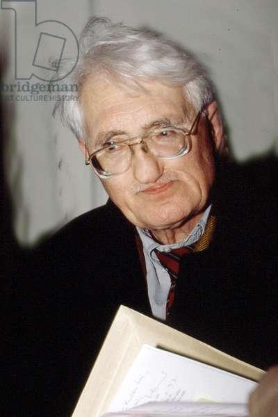 Portrait of Jurgen Habermas