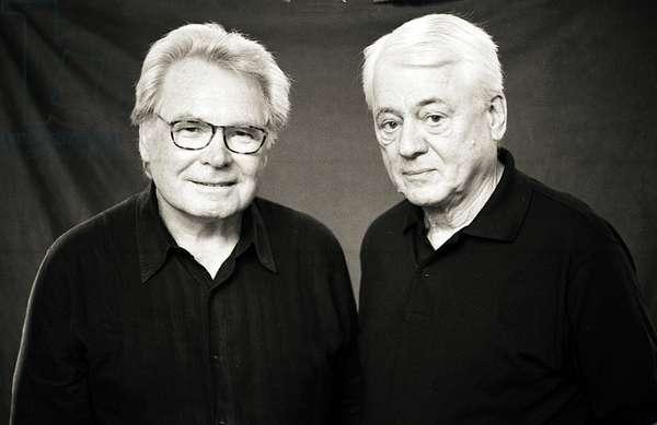 Portrait of Oskar Negt (left) and Alexander Kluge (right) 2006