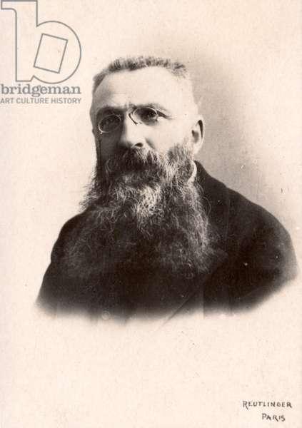 Auguste Rodin (b/w photo)
