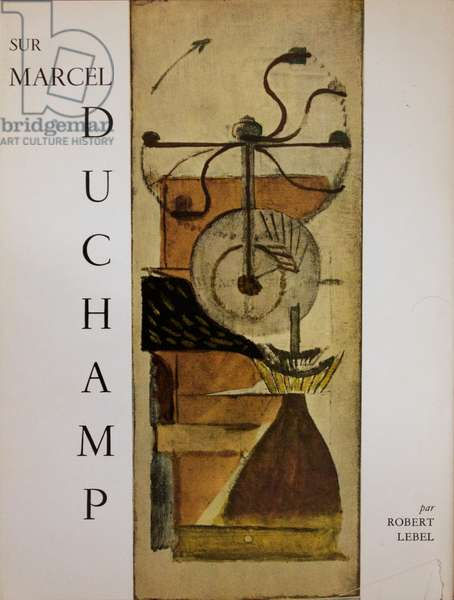 Front cover of 'Sur Marcel Duchamp', first edition, by Robert Lebel, 1959 (colour litho)
