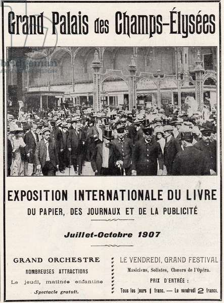 Poster for the Exposition Internationale du Livre at the Grand Palais, 1907 (litho)