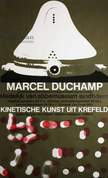 Poster for Marcel Duchamp at the Van Abbemuseum, Eindhoven, 1965 (colour litho)