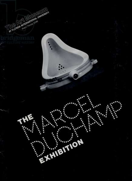 Front cover of the exhibition catalogue for 'The Marcel Duchamp Exhibition' at The Art Museum, Florida International University, published 1973 (litho)