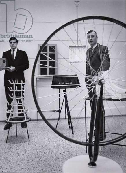 Marcel Duchamp at the Walker Art Center, 1965 (b/w photo)