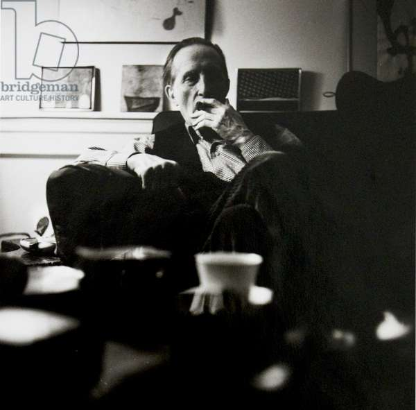 Marcel Duchamp, New York, 1966 (b/w photo)