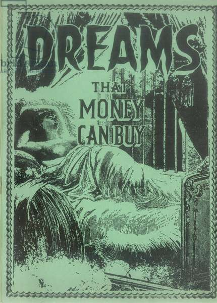 Front cover of the film brochure for 'Dreams That Money Can Buy', Published by New York: Films International America, 1947 (colour litho)
